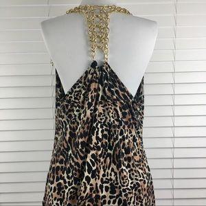 Kiwi 1x Sexy Leopard Animal Print Chain Top